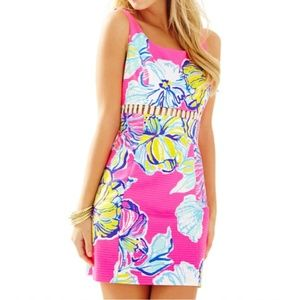 Lilly Pulitzer Iggy Cut Out Floral Shift Dress  10